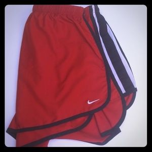 NIKE Running Shorts RED with Black Trim